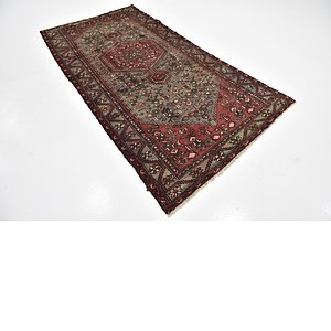 HandKnotted 4' 5 x 8' 6 Hamedan Persian Rug