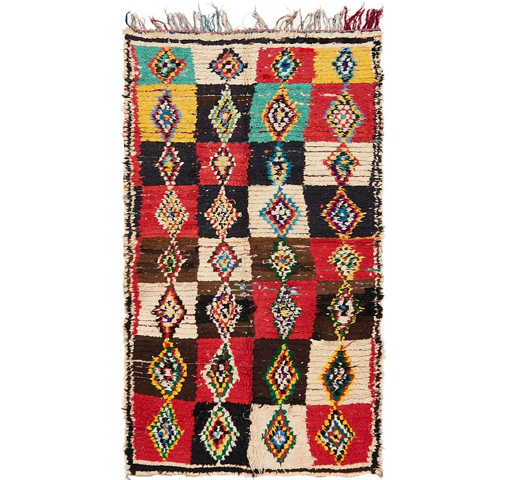 HandKnotted 4' 3 x 7' 8 Moroccan Rug
