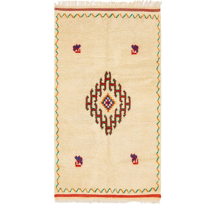 4' 6 x 8' 2 Moroccan Rug