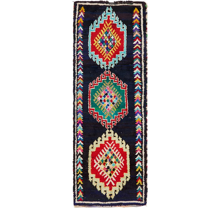 HandKnotted 3' 9 x 10' 6 Moroccan Runner Rug