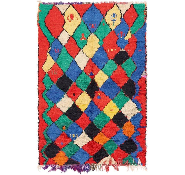 4' 6 x 6' 9 Moroccan Rug