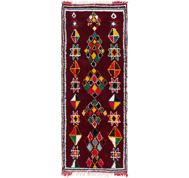 3' 7 x 10' 3 Moroccan Runner Rug