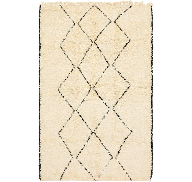 HandKnotted 6' 8 x 10' 8 Moroccan Rug