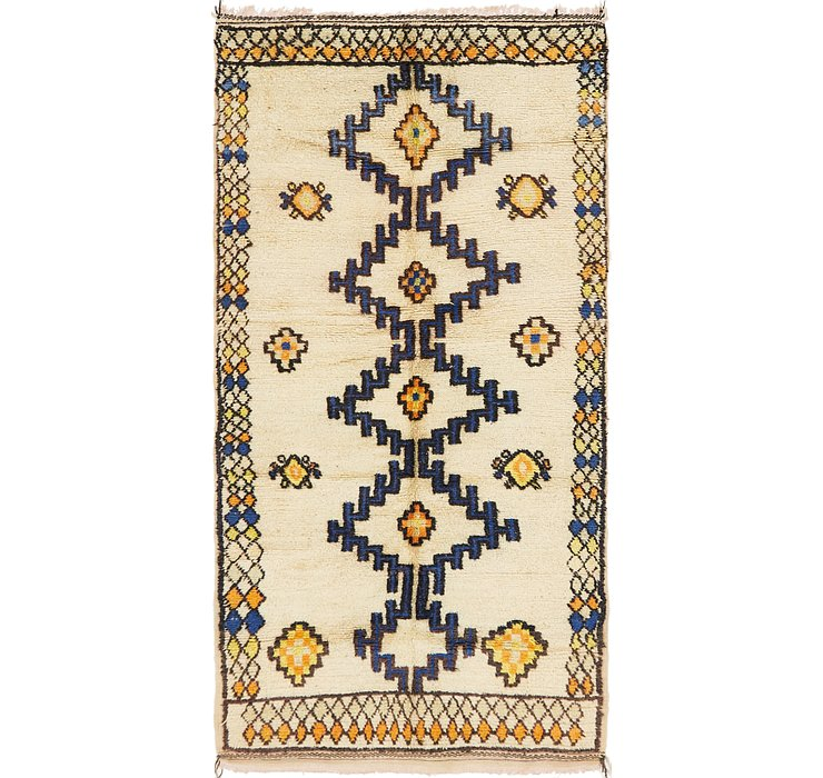 HandKnotted 4' 3 x 8' 6 Moroccan Rug