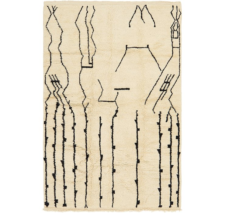 6' 4 x 9' 8 Moroccan Rug