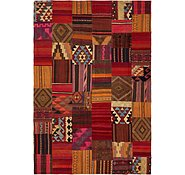 Link to 7' x 10' 4 Kilim Patchwork Rug