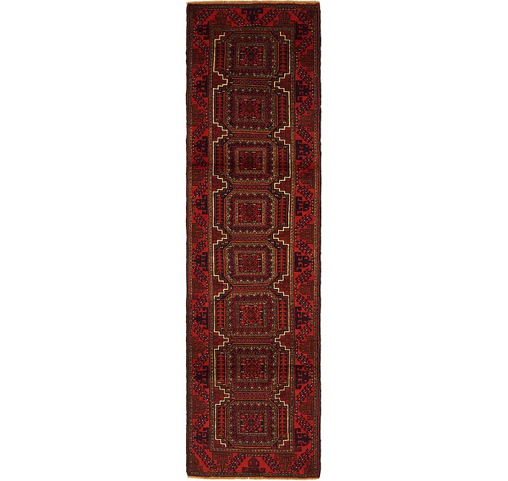 2' 6 x 9' 3 Balouch Persian Runner ...