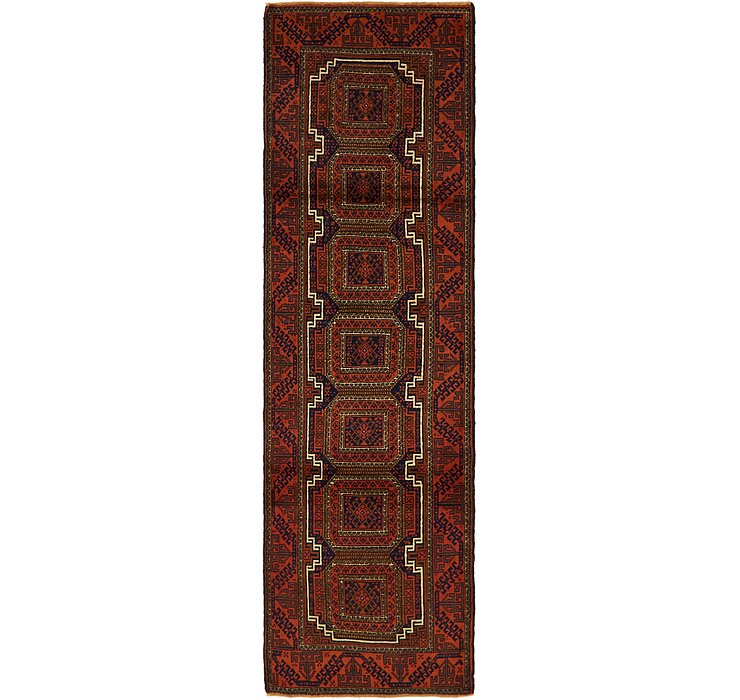 2' 9 x 9' 9 Balouch Persian Runner ...