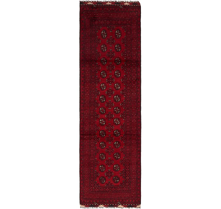 80cm x 287cm Afghan Akhche Runner Rug