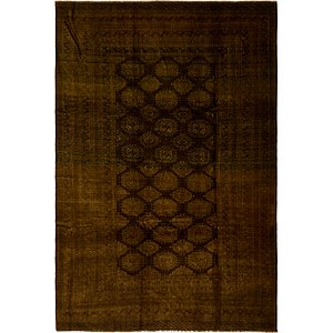 HandKnotted 8' 2 x 12' 2 Afghan Akhche Oriental ...