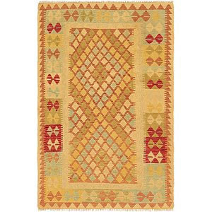 Unique Loom 3' 6 x 5' 3 Kilim Waziri Rug