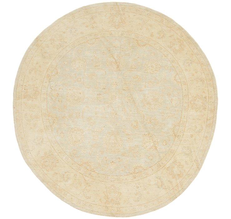 6' x 9' 8 Peshawar Ziegler Oval Rug