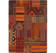 Link to 5' 5 x 7' 9 Kilim Patchwork Rug