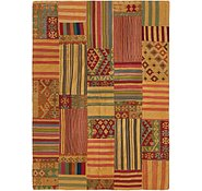 Link to 5' 7 x 7' 10 Kilim Patchwork Rug