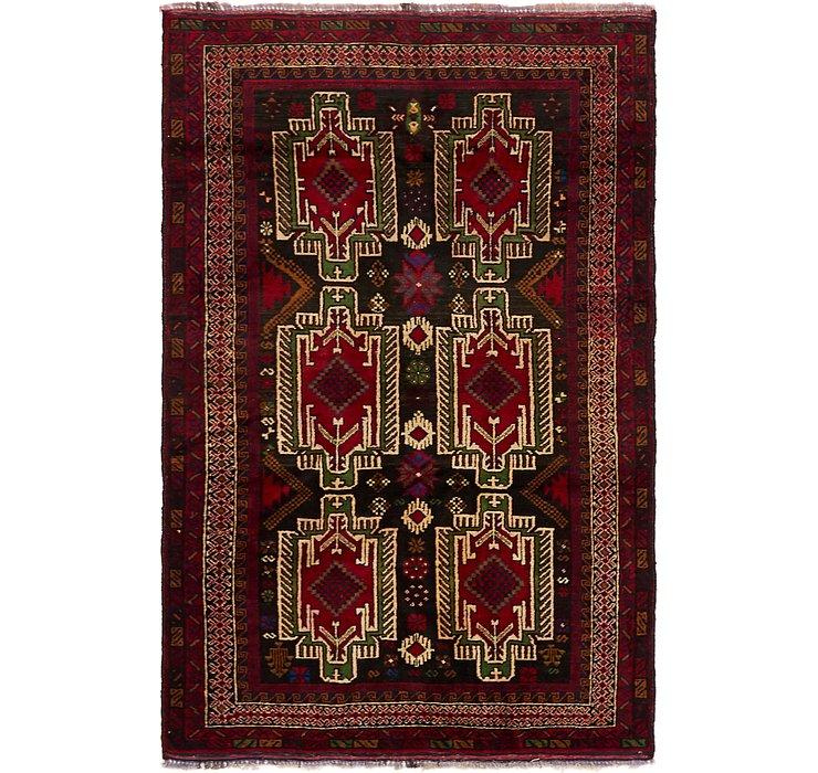 3' 10 x 6' 2 Balouch Persian Rug