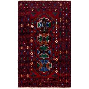 3' 9 x 6' 5 Balouch Persian Rug