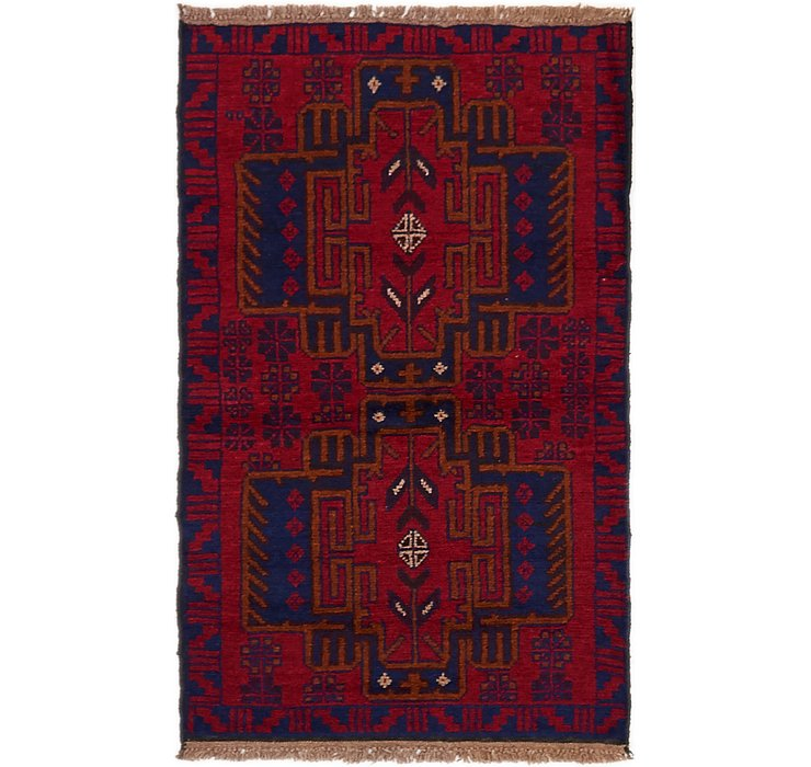 HandKnotted 2' 8 x 4' 4 Balouch Persian Rug