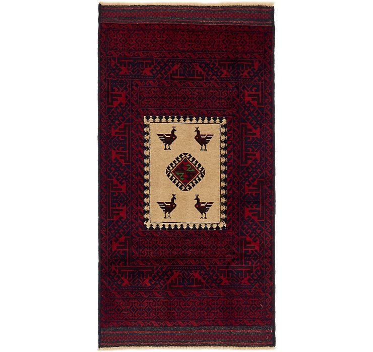2' 10 x 5' 7 Balouch Persian Rug