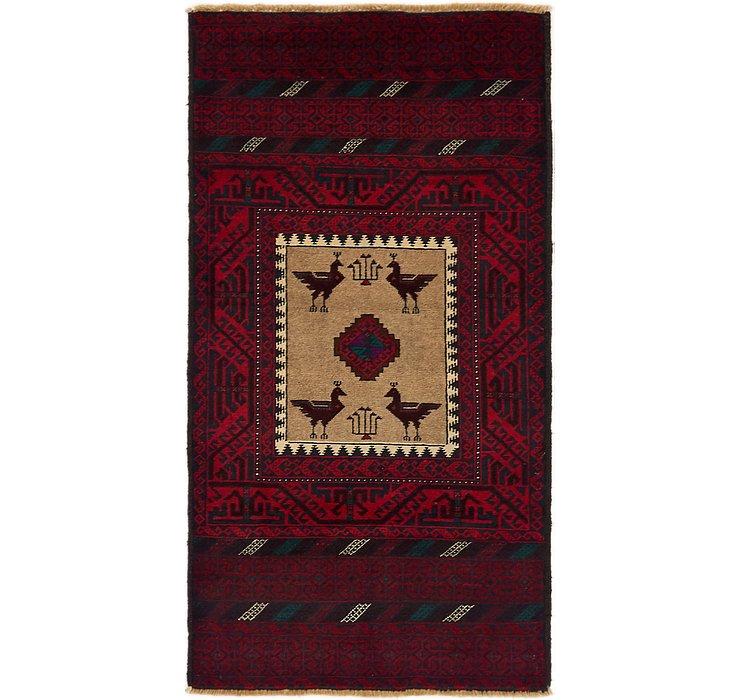 3' x 5' 9 Balouch Persian Rug