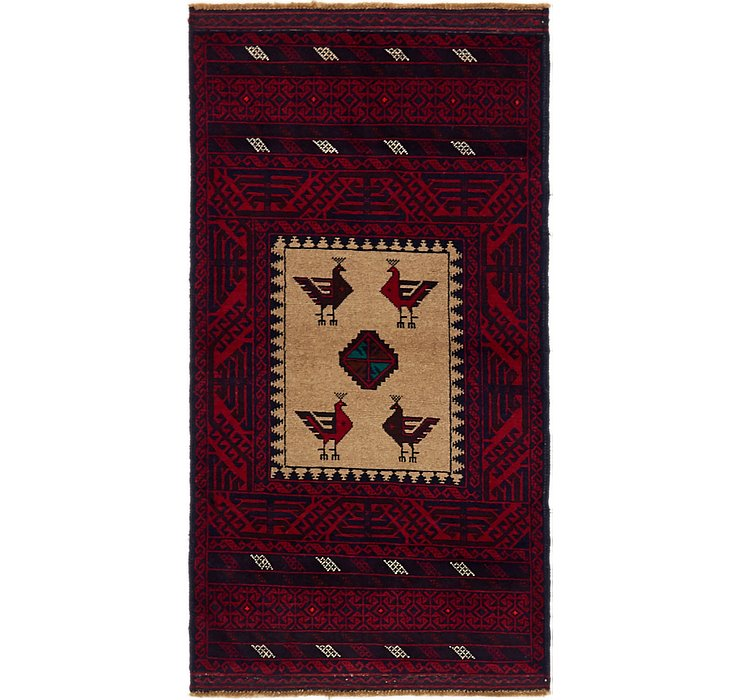 2' 10 x 5' 4 Balouch Persian Rug