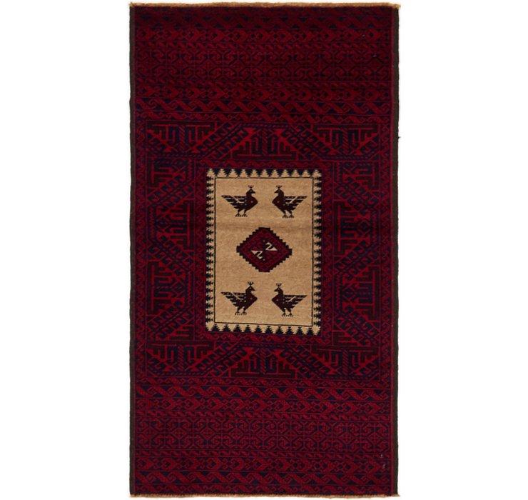 2' 10 x 5' 3 Balouch Persian Rug