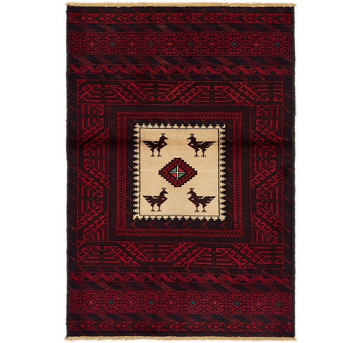 3' 1 x 4' 7 Balouch Persian Rug