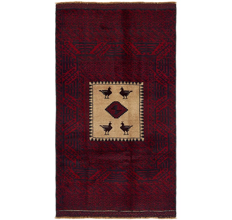 90cm x 165cm Balouch Persian Rug