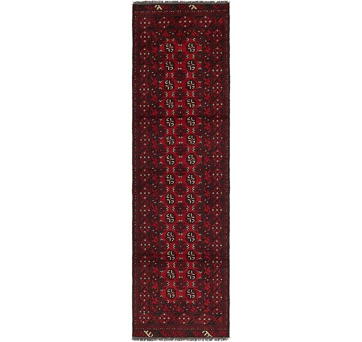 2' 8 x 9' 4 Afghan Akhche Runner Rug