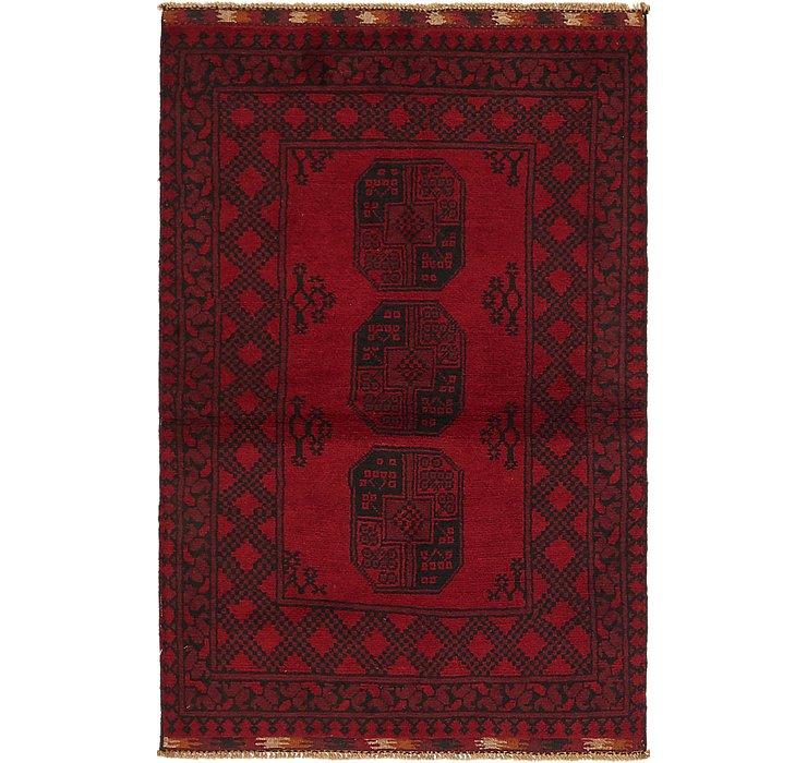 3' 3 x 5' Afghan Akhche Rug