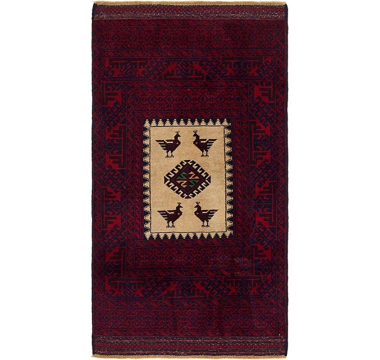 3' x 5' 6 Balouch Persian Rug