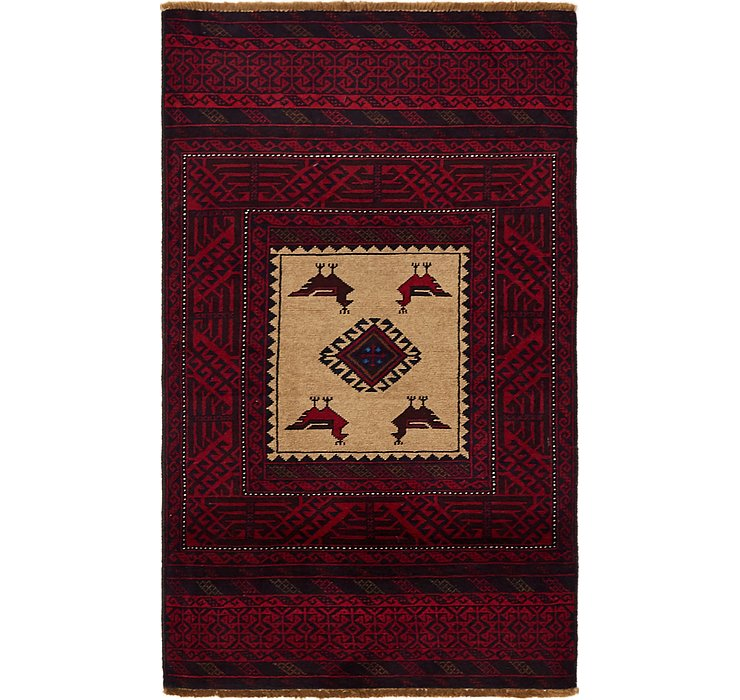 3' x 5' 2 Balouch Persian Rug