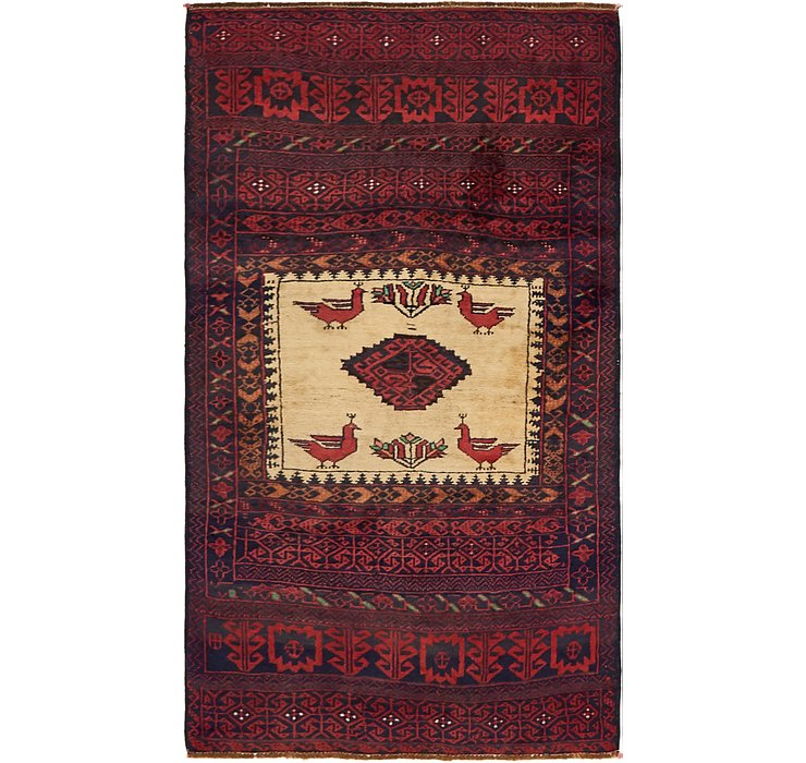 2' 10 x 5' 2 Balouch Persian Rug