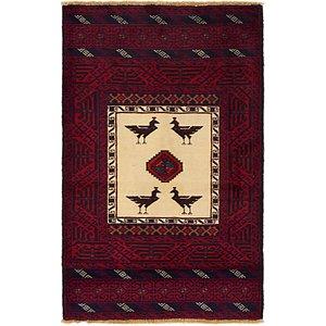 3' x 4' 8 Balouch Persian Rug