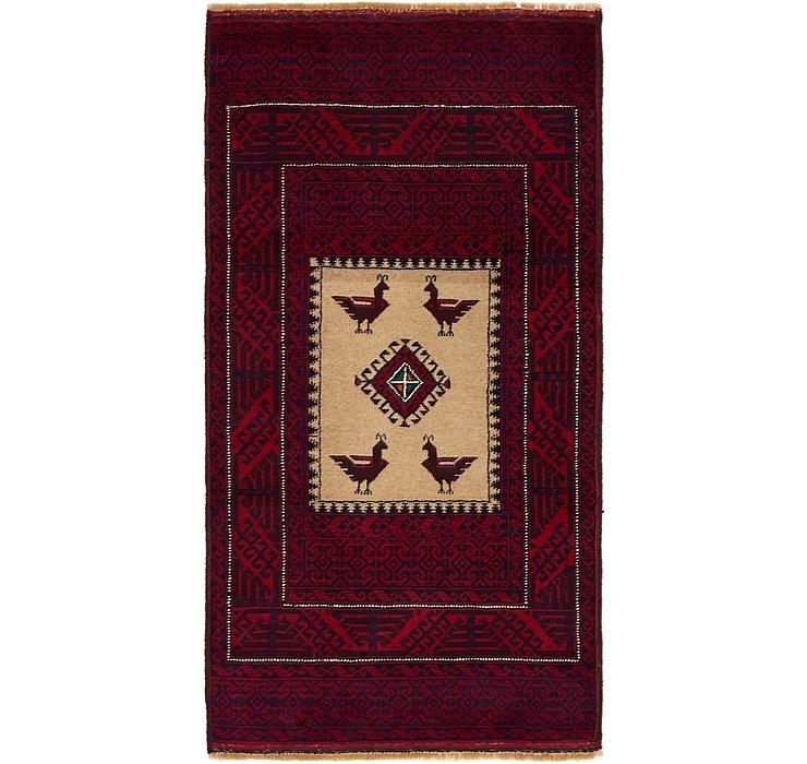 90cm x 168cm Balouch Persian Rug
