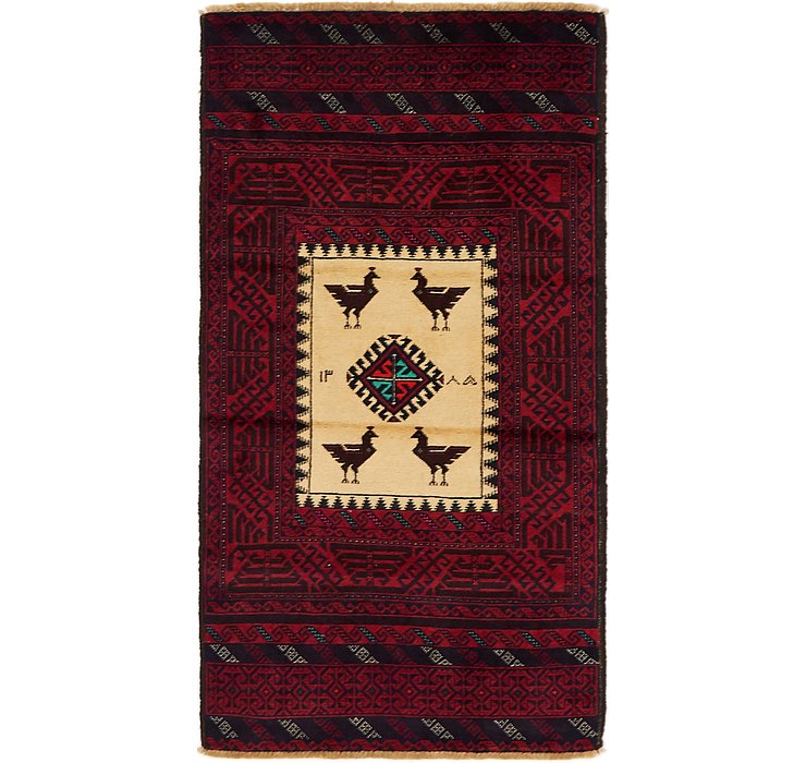 2' 9 x 5' 2 Balouch Persian Rug