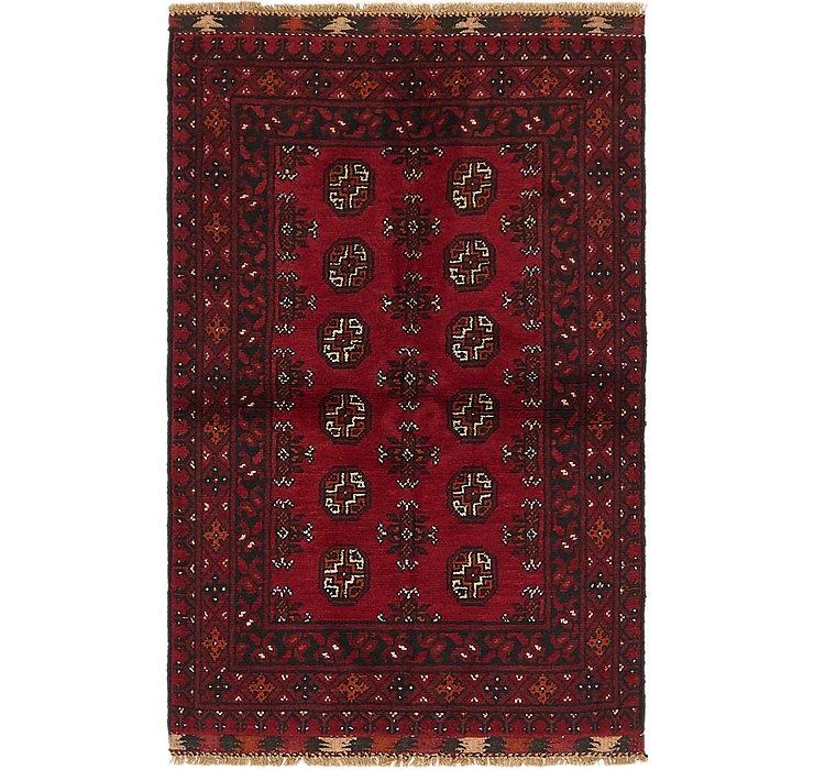 3' x 4' 9 Afghan Akhche Rug