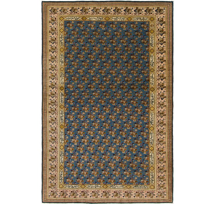 140cm x 215cm Qom Persian Rug