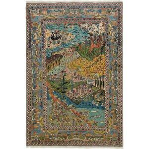 4' 2 x 6' 3 Kashan Persian Rug