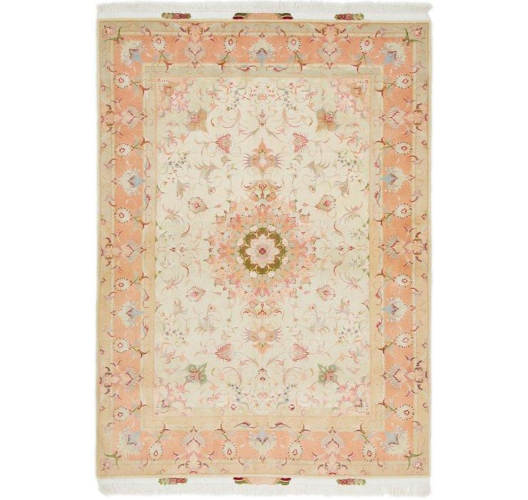 5' x 6' 10 Tabriz Persian Rug