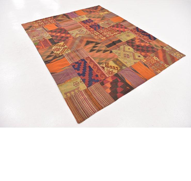 6' 6 x 8' Kilim Patchwork Rug