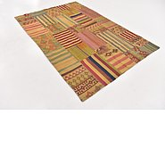 Link to 5' 5 x 8' Kilim Patchwork Rug