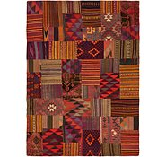 Link to 6' 10 x 9' 7 Kilim Patchwork Rug
