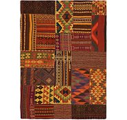Link to 5' 4 x 7' 6 Kilim Patchwork Rug