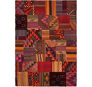 Link to 6' 9 x 9' 6 Kilim Patchwork Rug