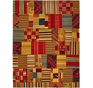 Link to 9' 10 x 13' Kilim Patchwork Rug