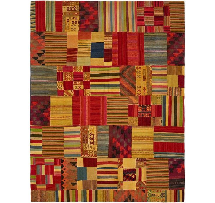 9' 10 x 13' Kilim Patchwork Rug