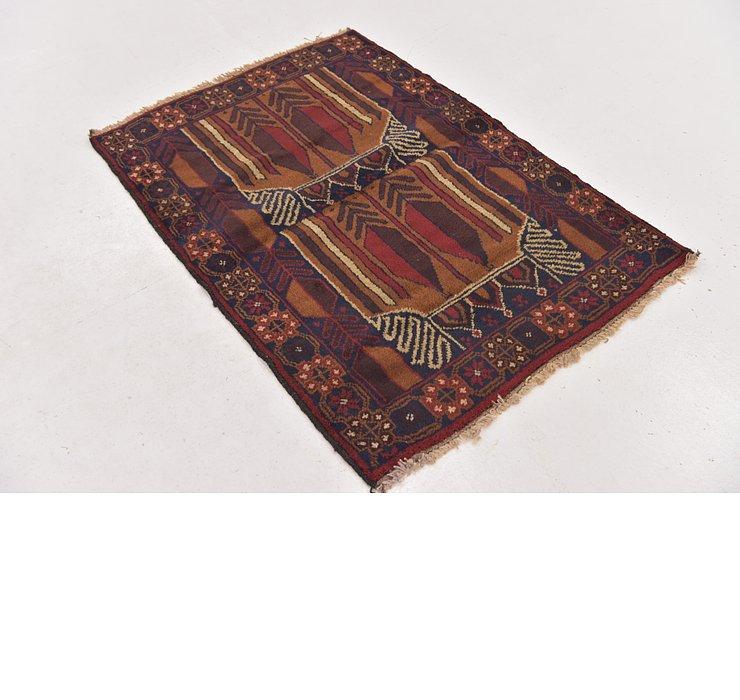 3' 2 x 4' 4 Balouch Persian Rug