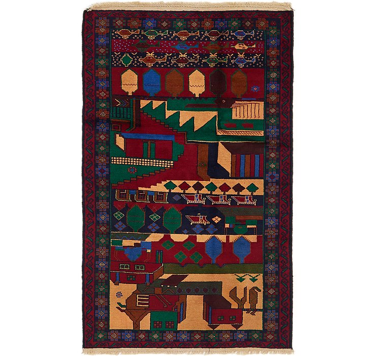 110cm x 195cm Balouch Persian Rug