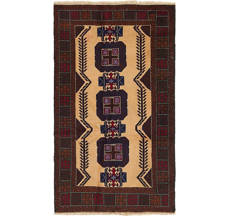 3' 8 x 6' 5 Balouch Persian Rug