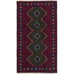 HandKnotted 3' 3 x 6' Balouch Persian Rug